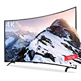 4K Curvo ultradelgado Televisión Smart TV, Ultra HD LED Smart WiFi Network Televisión HiFi Audio 3000R Curvatura USB HDMI AV VGA Interfaz Ethernet Smart Android TV