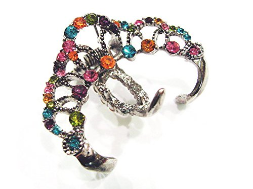 rougecaramel - Accessoires cheveux - Pince cheveux métal et strass 3 dents - multicolore