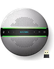 Kaysuda SP300 スピーカーフォン Bluetooth対応 マイクスピーカー 会議用スピーカーマイク PCマイク 全指向性マイク 双方向通話 オンライン会議/ウェブ会議/在宅勤務/テレワーク/オンライン教育 Zoom/Skype/Teams/Google meet通話アプリ対応 法人・個人向け会議用システム シルバー