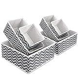 Boîte de rangement en tissu pliable pour armoire, tiroir de placard, commode, organiseur de tiroir en tissu, poubelles cubiques...