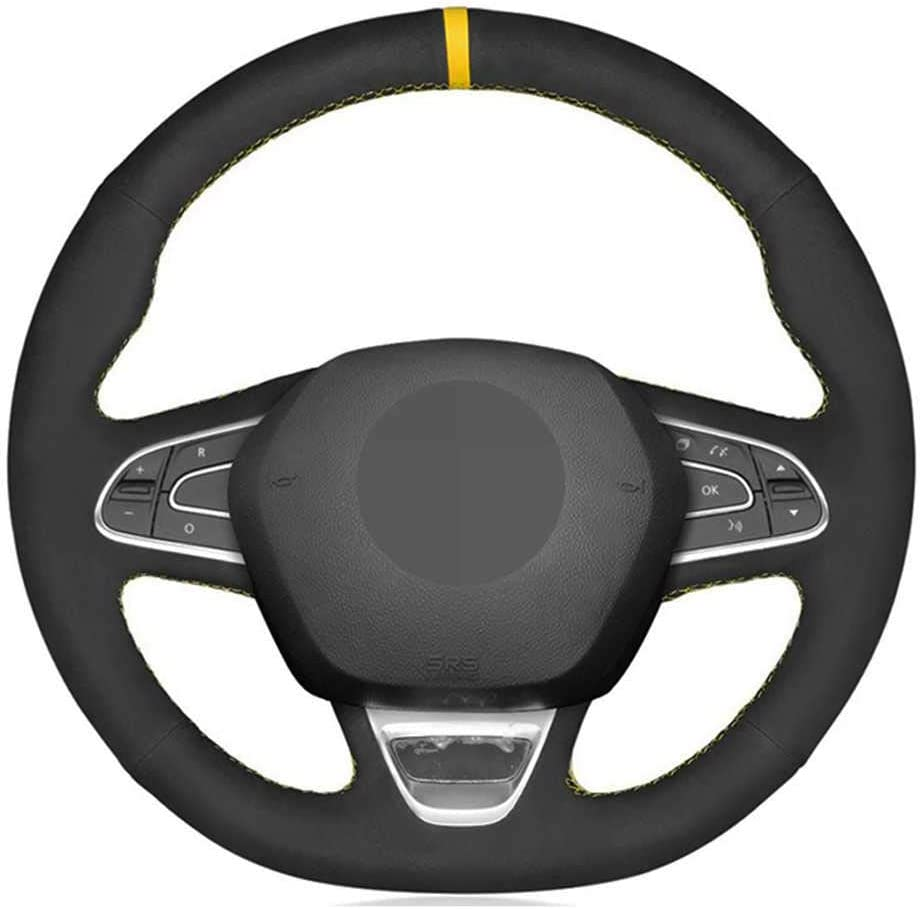 BEKwe Hand-Stitched Car Steering online shop Wheel Kad Cover Renault for Fit Ultra-Cheap Deals