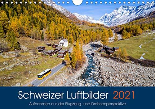 Schweizer Luftbilder (Wandkalender 2021 DIN A4 quer)