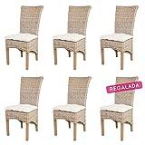 ROTIN DESIGN Lot de 6 chaises TAO en kubu