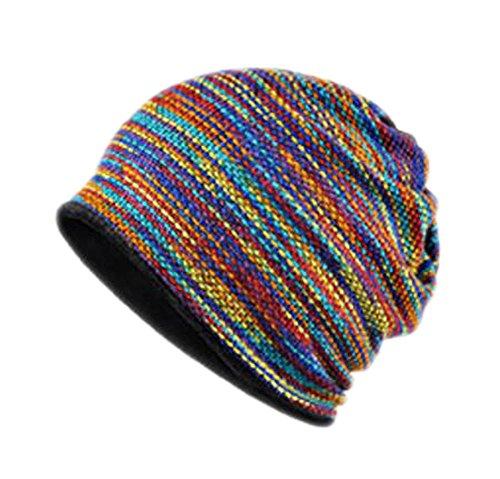 Black Temptation À Double Usage en Velours de Coton Hat Outdoor Windproof Ski Bonnet de Laine