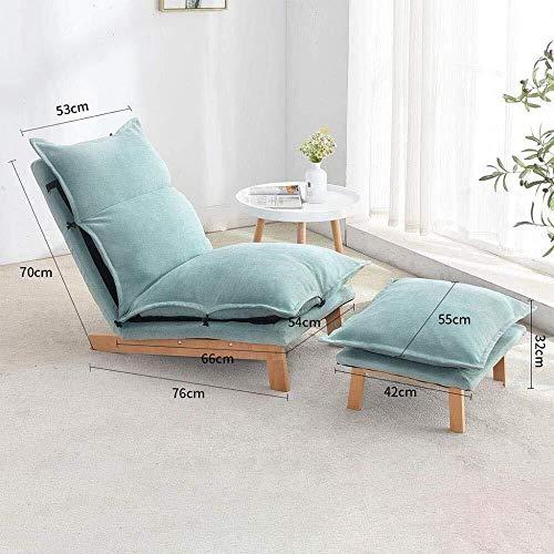 Stella Fella. Buying Lazy Lounge Sofa Stuhl, Thick Sitzkissen Lengthen Lounge Schlafsofa mit Base und Fußstützen Heim und Büro Faulen Boden Stuhl for Spiel-Lese Fernsehen, Grau (Color : Minzgrün)
