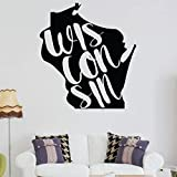 Wisconsin Wall Decor - States Vinyl Silhouette Art for Home Decor, Living Room or Family Room Decoration