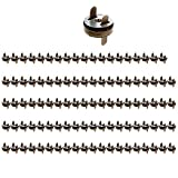 Tocone Cierre Magnético Botones Magnéticos Bolsa Cierres Cierres de Botón para Coser, Confecciones, Bolsas, Álbumes de Recortes 14mm 100 Piezas (Latón antiguo)