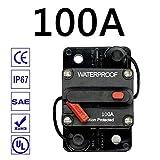 HOPQ 30A 40A - 300A Ampere Fusibile dell'interruttore Ripristino 12-48 V CC Auto Marine Impermeabile, Assicurazione Auto, Conversione Audio Auto con Interruttore Protezione Automatica portafusibile
