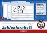 Brunnen 1044041 Zahlenlernheft ZL (A4, quer, Lineatur ZL, 16 Blatt)
