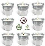 Aottom Velas Antimosquitos Exterior, 8 Velas de Citronela Antimosquitos Vela Perfumada para repeler Mosquitos e Insectos Velas Aromaticas para Exteriores, Camping, Jardín