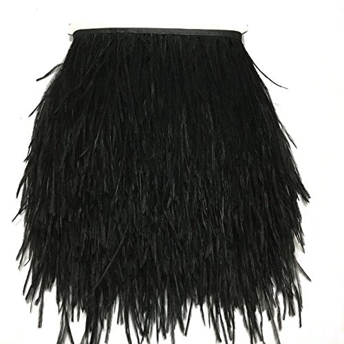 Kolight - Paquete de 1,8 metros de plumas de avestruz naturales tintadas, de 9 a 12 cm, para decorar vestidos, disfraces o manualidades