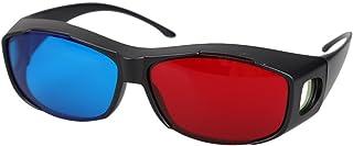 ACAMPTAR 5ペア レッド+ブループラズマ TV ムービーディメンションアナグリフ 3Dビジョンメガネ(アナグリフフレーム) ブラック