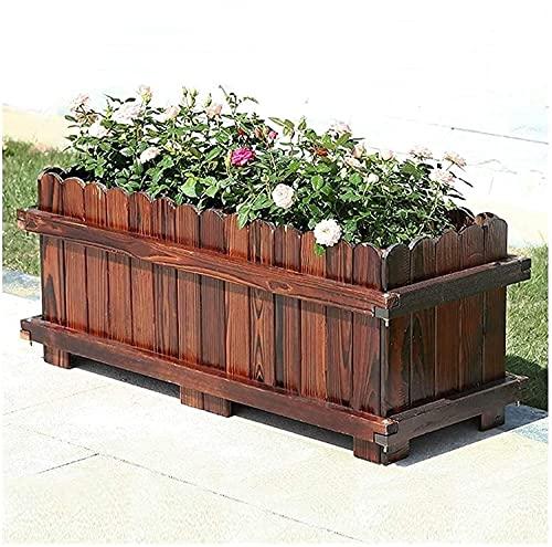 Qjkmgd Banco de madera maciza al aire libre con respaldo, parque al aire libre Terraza Banco de hierro forjado, asiento a prueba de agua y decoración de jardín a prueba de sol, banco de ocio j