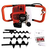 BSTOOL 52CC 2.3HP Gas Powered Post Hole Digger Earth...