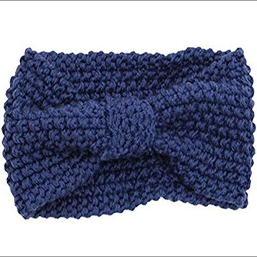 Dynamite Winter-Stirnband, gestrickt, Winter-Stirnband, gestrickt, für Damen, warm, sperrig, gehäkelt, Haarband, 42PV1150FFA0EO0X00TR5, dunkelblau, Same