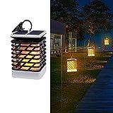 winnerruby Solar Flame Lights Hanging Lantern Lights Luz Nocturna para terraza de jardín 2 Unidades