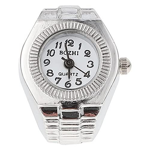 ibasenice Reloj de Dedo para Mujer Reloj de Dedo Casual Reloj de Cuarzo para Mujer