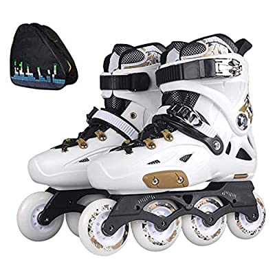hongyes Roller Skates Inline Skates Professional Inline Skates for Adult Single Row Roller Blades Inline Speed Skating Shoes Carbon Fiber Beginner Sports Outdoors Recreation Fitness for Men and Wome