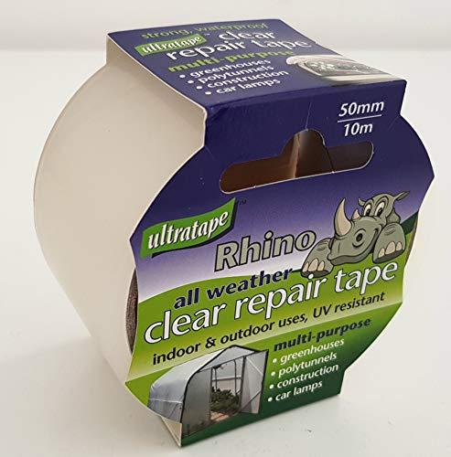 Clear Repair Tape. Waterproof Indoors Outdoors All Weather. 10M x 50MM. BestSeller.