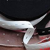 1M langes schwarzes weißes Gummiband für Unterwäsche Handgemachtes Nähen DIY-Zubehör Flaches Gummiband für Babyhosen Kleidung, schwarz