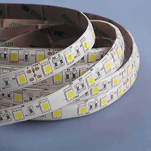 Mextronic LED Streifen LED Band LED Strip 5050 Kaltweiß (6000k) 72W 500CM 24V IP44
