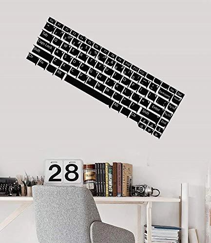 Teclado de computadora vinilo adhesivo para pared juvenil pegatina para habitación de juegos pegatina para pared de sala de juegos Internet café decoración de moda pegatina de pared