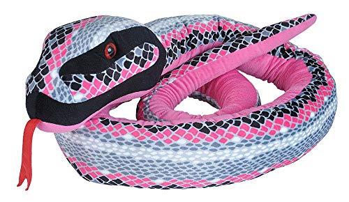 Wild Republic 22209 Jumbo Plüschschlange Pink-grau, Kuscheltier, 280 cm, Multi
