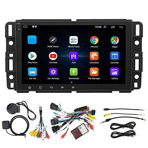 Estéreo de coche de 8 pulgadas con GPS Radio de coche Receptor de radio Bluetooth F-M 1 + 16GB WiFi Multimeda Player + Mirror Link + Cámara de visión trasera para Android 10.1 Apto