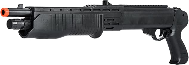 BBTac Airsoft Shotgun BT12 Pump Action Spas - Tactical Weaver Top Rail, Powerful Fps with 6mm BBS Entry Level Spring Airsoft Gun