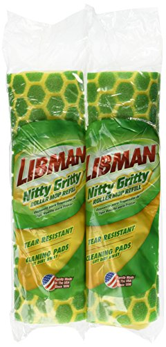 Libman Nitty Gritty Roller Mop Refill pack of 2