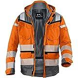 KÜBLER Warnschutz-Wetterjacke Reflectiq orange/grau Gr. L 80%PE/20% BW
