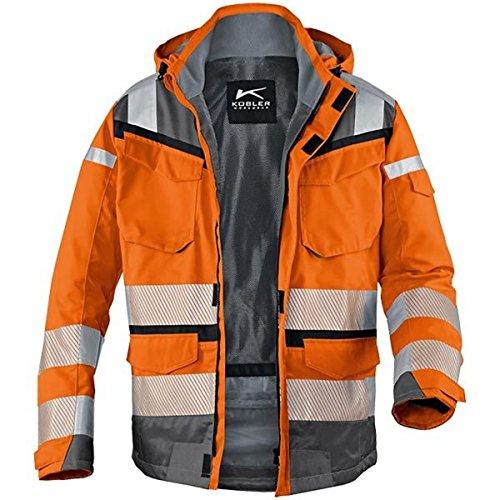 KÜBLER Warnschutz-Wetterjacke Reflectiq orange/grau Gr. XL 80%PE/20% BW