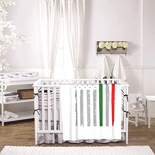 Mexico Unisex Plush Blanket Infant Newborn Receiving Blanket for Crib Stroller Travel Decorative One Size Black