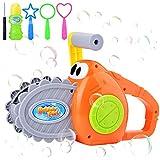 Máquina de Burbujas Para Niños, Soplador de Burbujas Manual 2000+ Burbujas por Minuto, Máquina de Burbujas Para Niños con Forma de Motosierra ,Para Niños y Niñas Para Actividades Al Aire Libre
