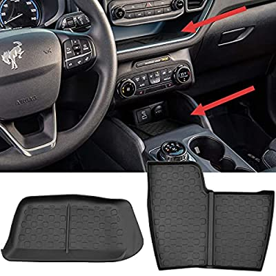 Center Console Mat Anti-Slip Protection Liner for 2021 Ford Bronco Sport Accessories Set of 2
