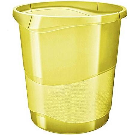 Esselte Corbeille à Papier, 14L, Plastique, Jaune, Colour'Ice, 626287