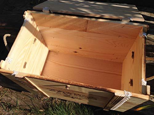 Große Erinnerungskiste Maritim aus Holz, graviert mit Wunschmotiv – Hochzeitsgeschenk personalisiert – Erinnerungskiste mit Gravur – Hochzeitskiste – Hochzeitstruhe - 5