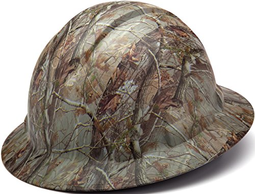 Pyramex Ridgeline Full Brim Hard Hat, 4-Point Ratchet Suspension, Matte Camo Pattern