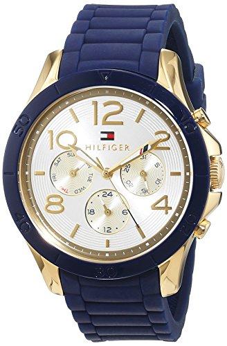 Tommy Hilfiger 1781523 - Reloj de Pulsera para Mujer (Cuarzo, analógico, Correa de Silicona), Color Azul