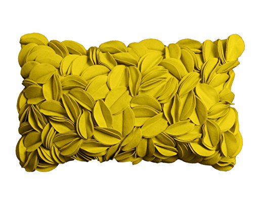 Pad - Kissenhülle - Kissenbezug - Zierkisssen - Dorothy - Applikationen - Mustard/Senf - 30 x 50 cm