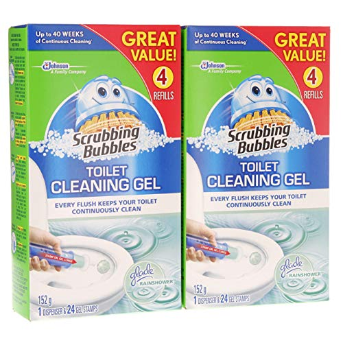 Scrubbing Bubbles Toilet Cleaning Gel Fresh, 2 Dispensers, 8 Refills, 48 Gel Stamps, 10.72oz