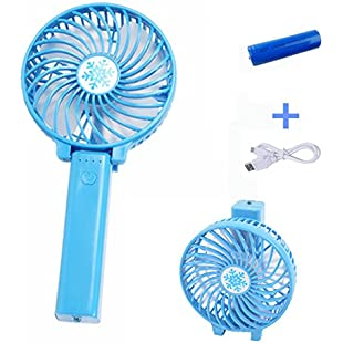 Austinstore Handheld Portable Battery Operated Rechargeable USB Fan with 1200mA Battery