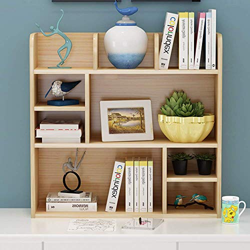YLCJ Desk Storage Organizer Freestanding Kids Desk Display Stand Simple Solid Wood Multifunctional Bookcase for Office and Home