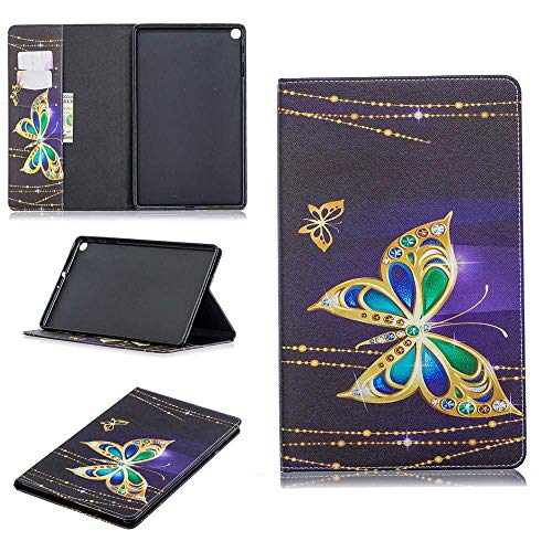 Luckyandery Galaxy Tab A 10.1 SM-T510/T515 2019 Leather Case Holder, Shockproof Stand Flip Leather Cover Card Slot Holder with Kickstand for Galaxy Tab A 10.1 SM-T510/T515 2019