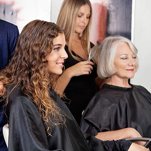 TRIXES Mantellina Parrucchiere Nera a Tutta Lunghezza Unisex barbieri Parrucchiere Professionale Mantellina per acconciatura, Taglio e Colore