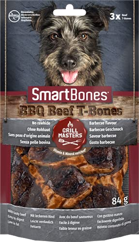 SmartBones -Snack masticable para Perros Grill Masters T-Bone, 8 Piezas