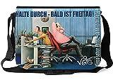 Veit'S lustige Schultertasche Schultasche College Tasche mit Motiv Halte durch Bald ist Freitag Büro - TAB0169