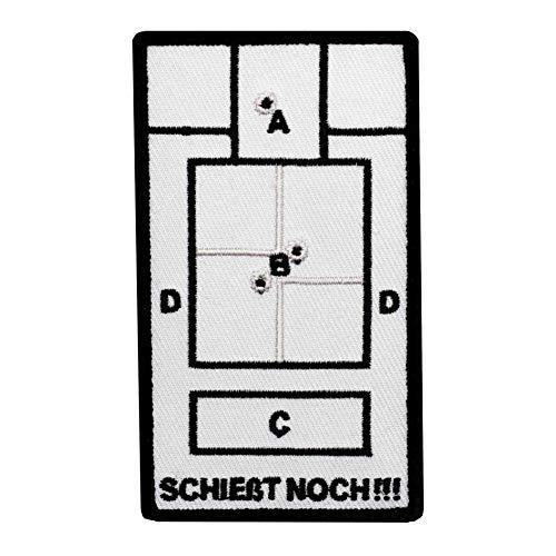 Café Viereck ® Bundeswehr Fun Patch Gestickt mit Klett – 9,6 cm x 5,8 cm