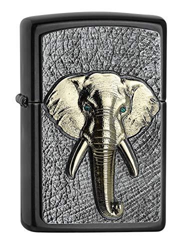ZIPPO – Elefant Tri Colour Emblem - Gray Dusk – Sturmfeuerzeug, nachfüllbar, in hochwertiger Geschenkbox