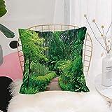 Purer Weicher Kissenbezug Kissenhülle Set,Wald, Grünpflanzen Bäume in Singapur Asien Botanische...